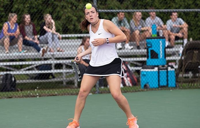 Schneider's Late Win Clinches Women's Tennis' 4-3 Victory at Bentley