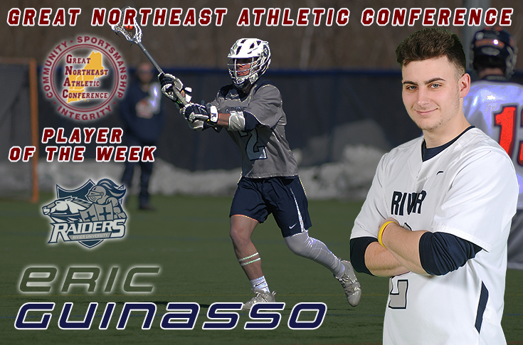 Men's Lacrosse: Eric Guinasso earns GNAC Player of the Week.