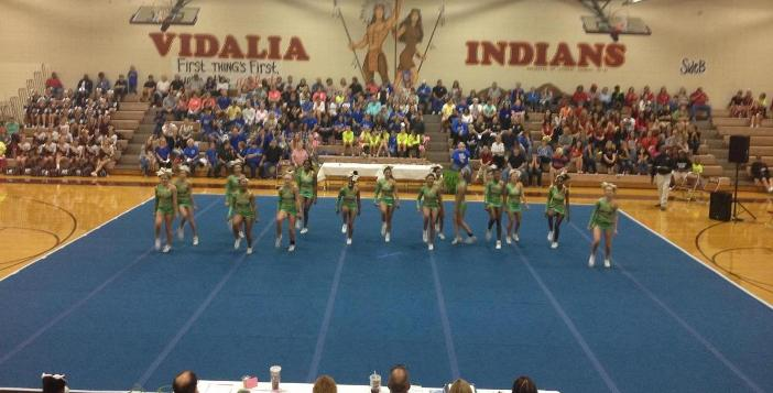 Cheerleaders Rock Vidalia this past weekend