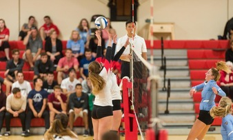 Volleyball Battles to 3-2 Victory Over Beacons