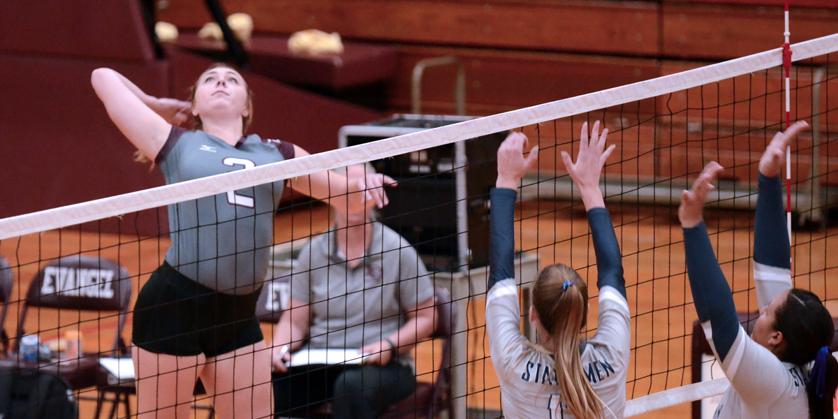 Evangel Volleyball Fights off William Penn in 3-2 Conference Victory