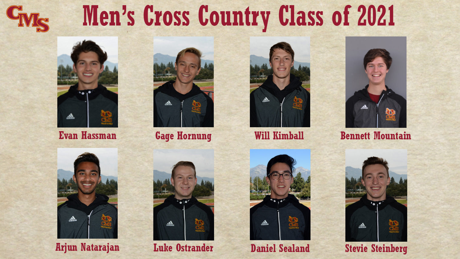 CMS Men's Cross Country Class of 2021 Head Shots