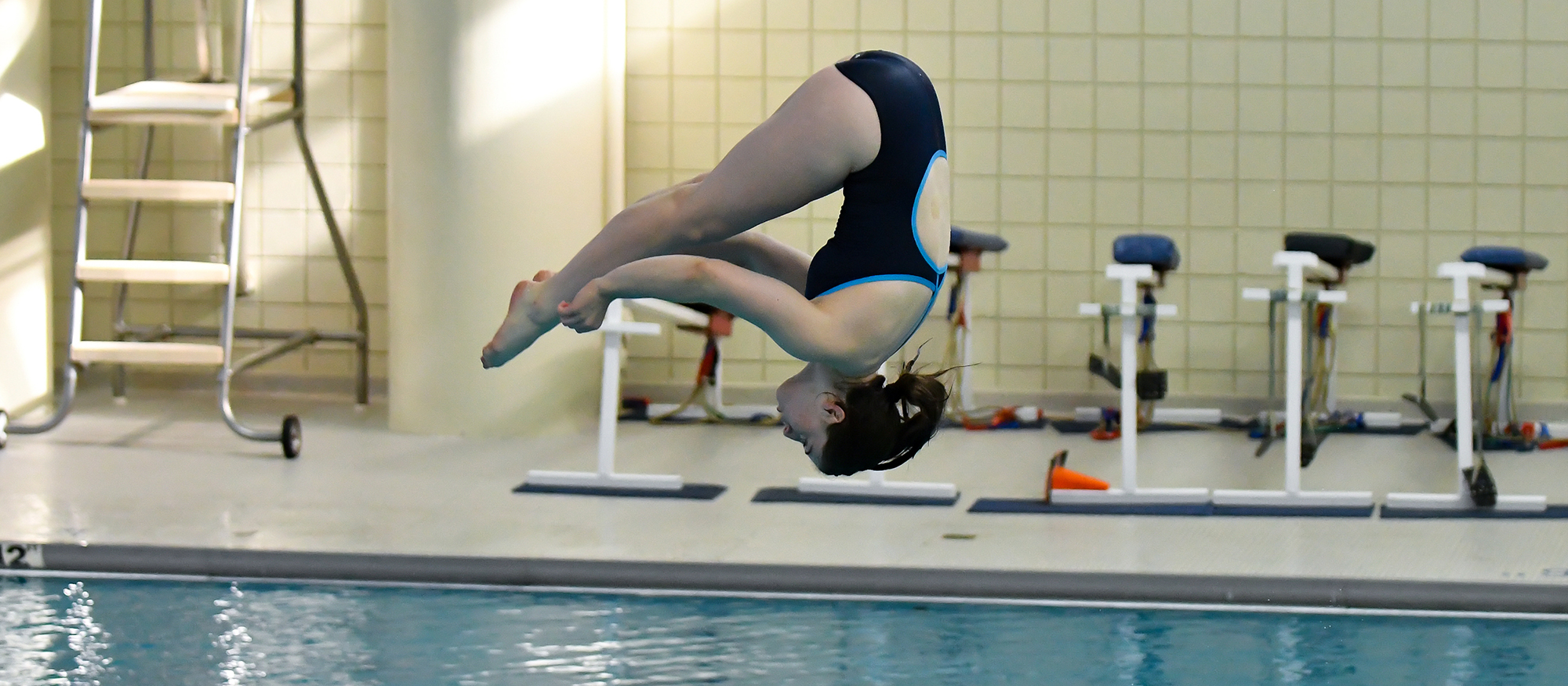 Action photo of Lyons diver, Kathryn Murphy