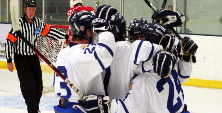 Quick start propels Men's Hockey past Lawrence for first victory