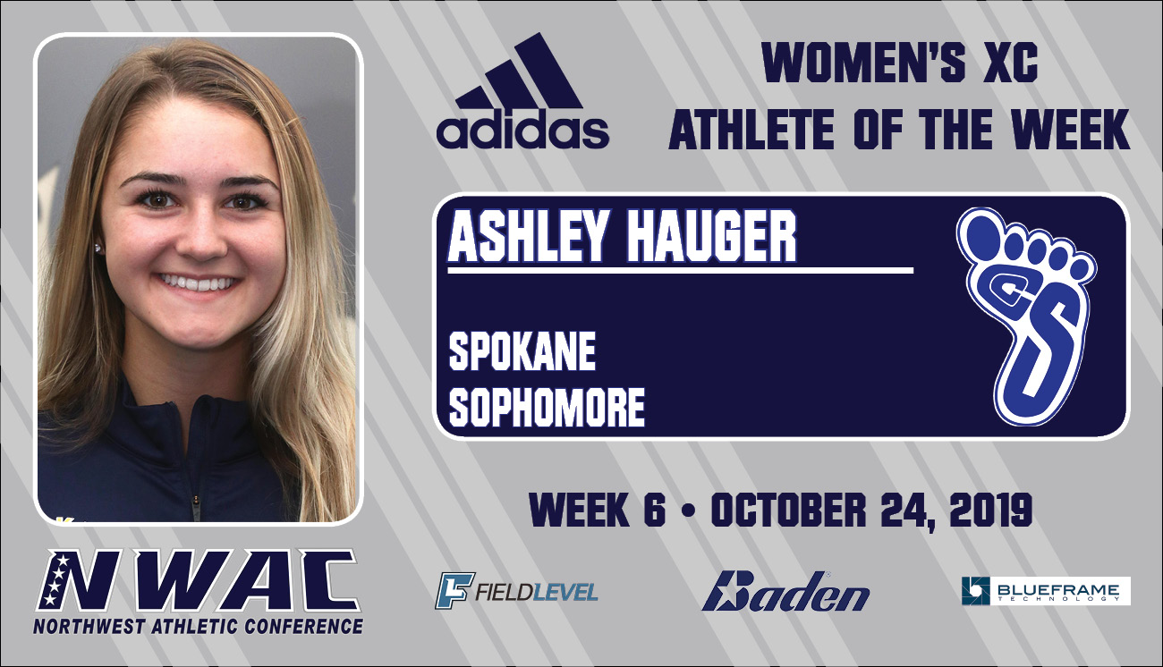 Adidas athlete of the week graphic of Ashley Hauger
