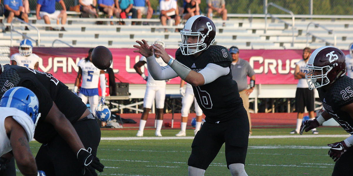 Evangel Cruises to 51-14 Win Over Culver-Stockton behind Record-Tying Night from Cameron Hardesty