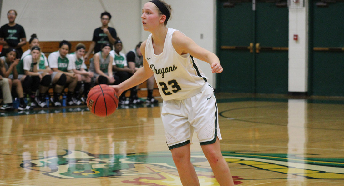 Allie Miller posted a double-double for Tiffin, scoring 19 points and snagging 10 rebounds.