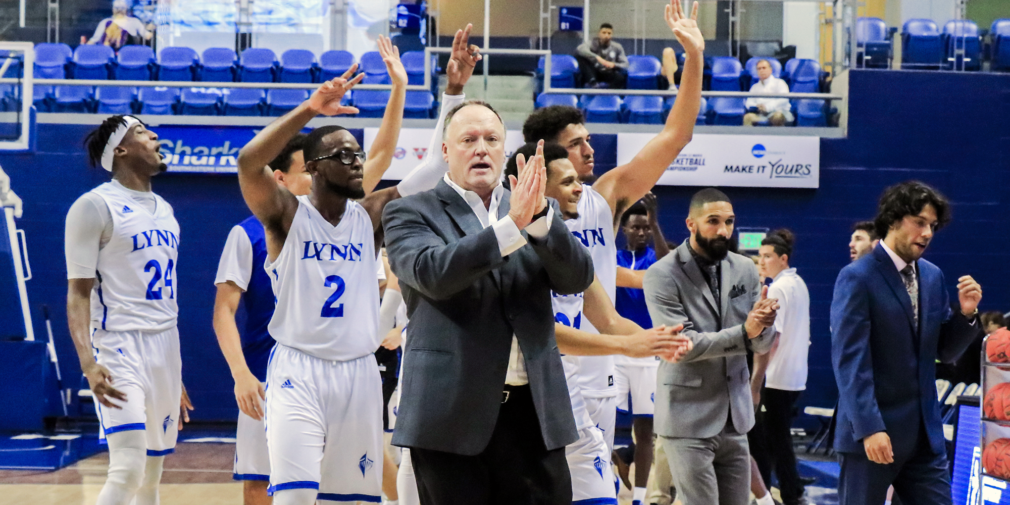 No. 18 Men's Basketball Charges Past UAH in NCAA South Region Opener