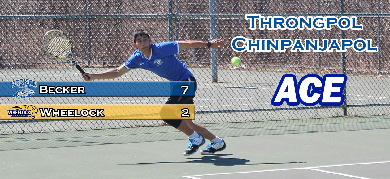Chinpanjapol leads Men's Tennis past Wheelock, 7-2