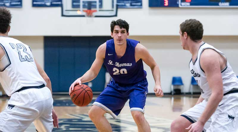 Ryan Boll was nearly unstoppable on Saturday night, scoring 39 points against Marietta in the finale of the Great Lakes Invitational. Photo by Nate Knobel, ...