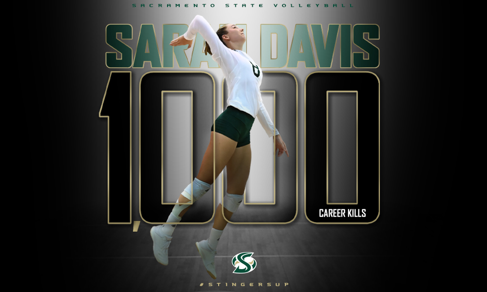 DAVIS NOTCHES 1,000TH CAREER KILL, VOLLEYBALL COMES FROM BEHIND TO BEAT IDAHO, 3-2