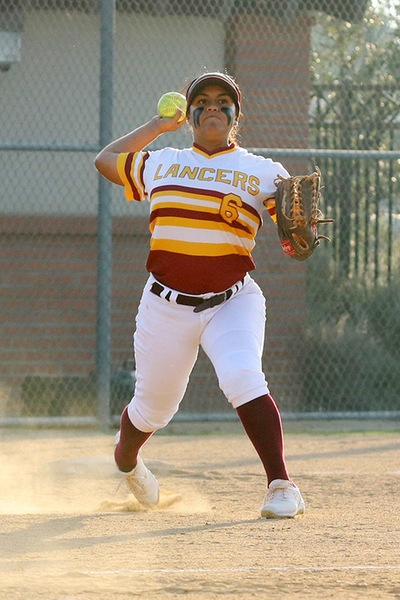 Lancer Kaylee Medrano is a team captain as the team's shortstop in 2019.