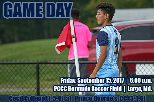 Prince George's Men's Soccer Begins Four-Game Homestand Against Cecil On Friday Evening