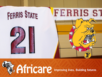 Ferris State Volleyball Digging Support For African Well Fund Charity