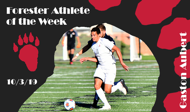 Gaston Aubert Named Forester Athlete of the Week Again