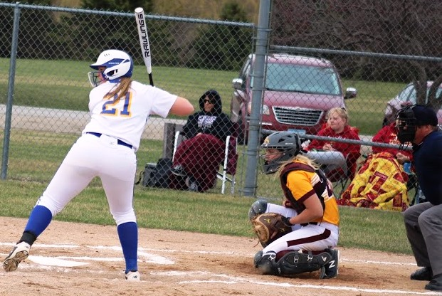 Kaci Sherwood gets ready to hit during a game against Indian Hills this season.