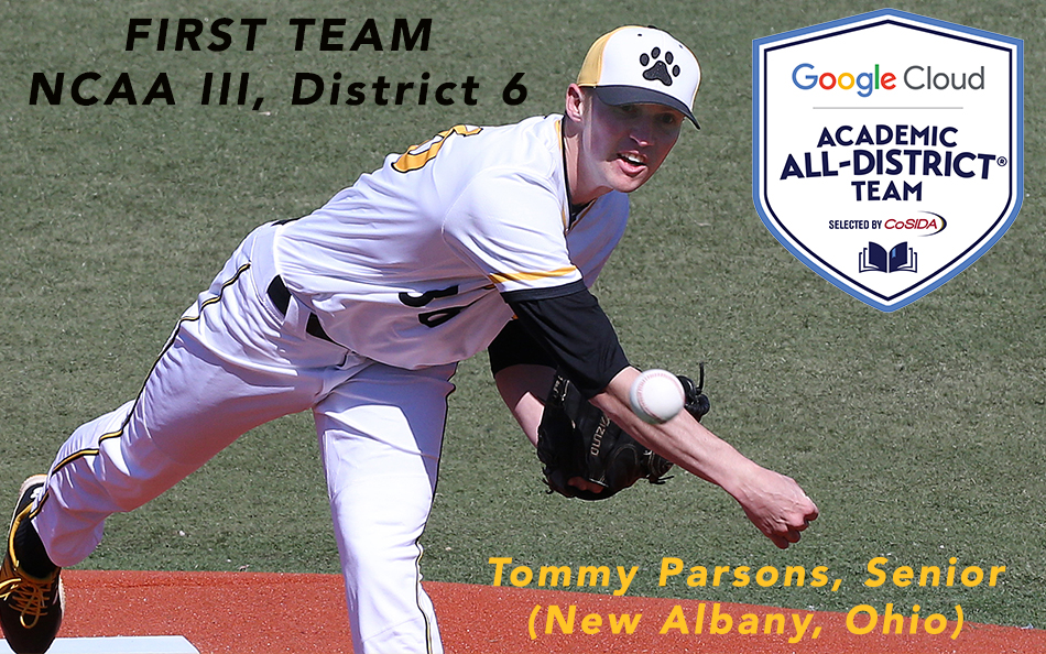 Senior Tommy Parsons Advances to CoSIDA Academic All-America Ballot