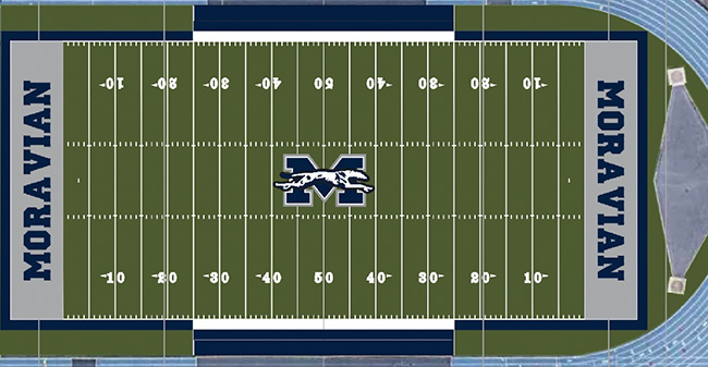 Artist rendering of new turf at Rocco Calvo Field.