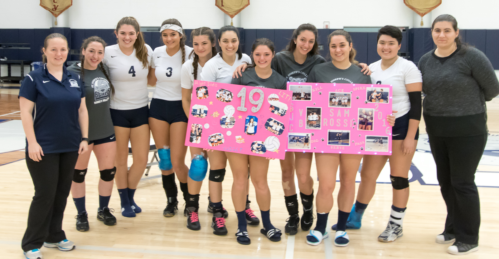 Women's Volleyball Sweeps Staten Island on Senior Night Notching 100th Win for Coach O'Neill