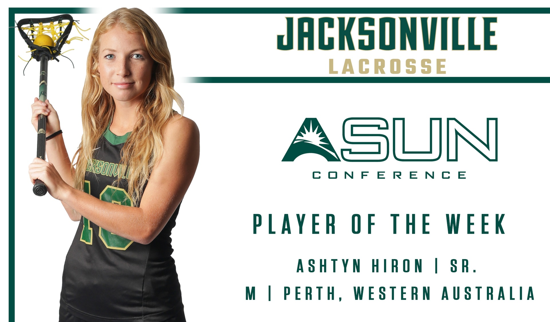 Hiron Named ASUN Player of the Week