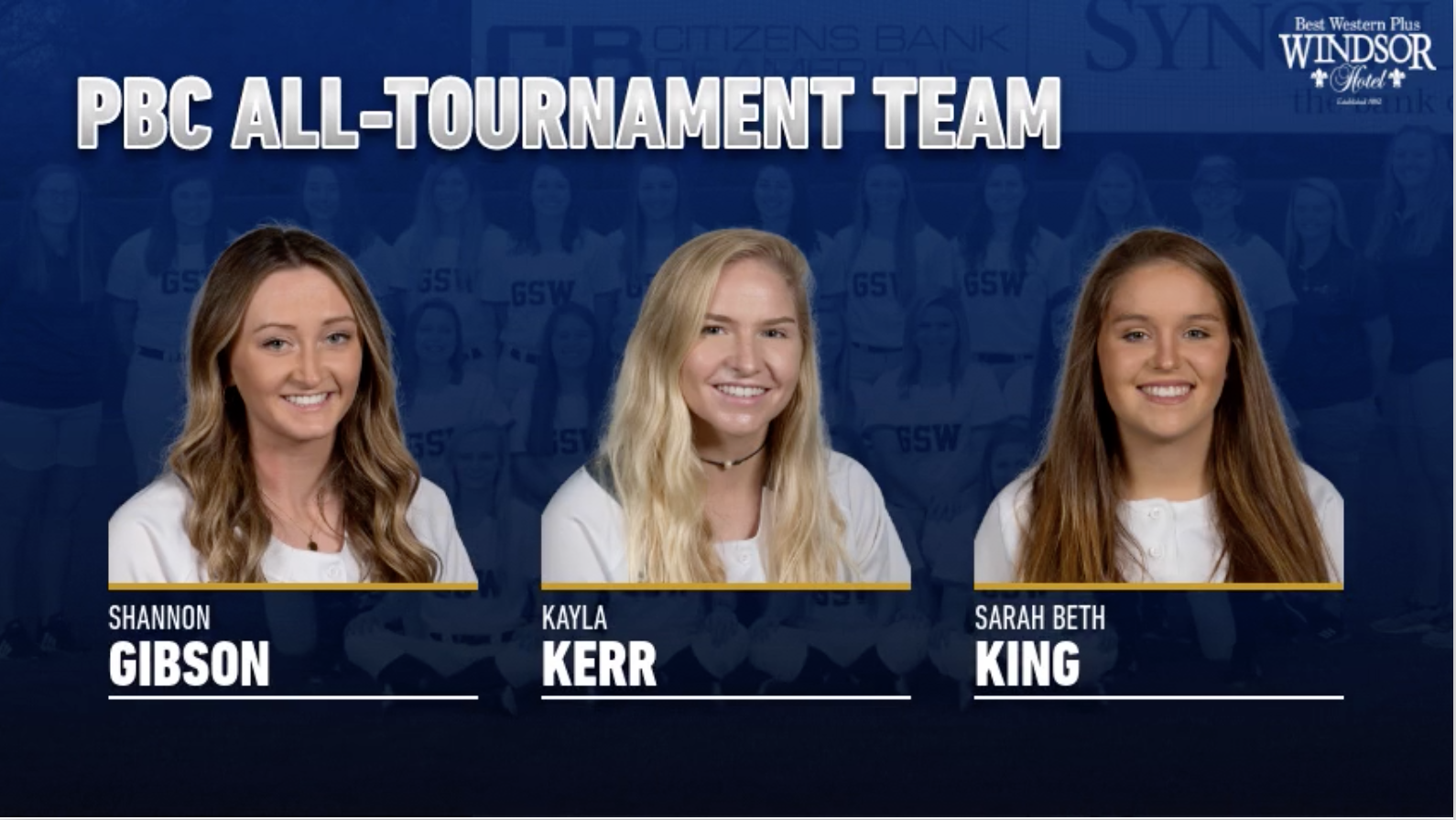 Gibson, Kerr & King Named To All-Tournament Team