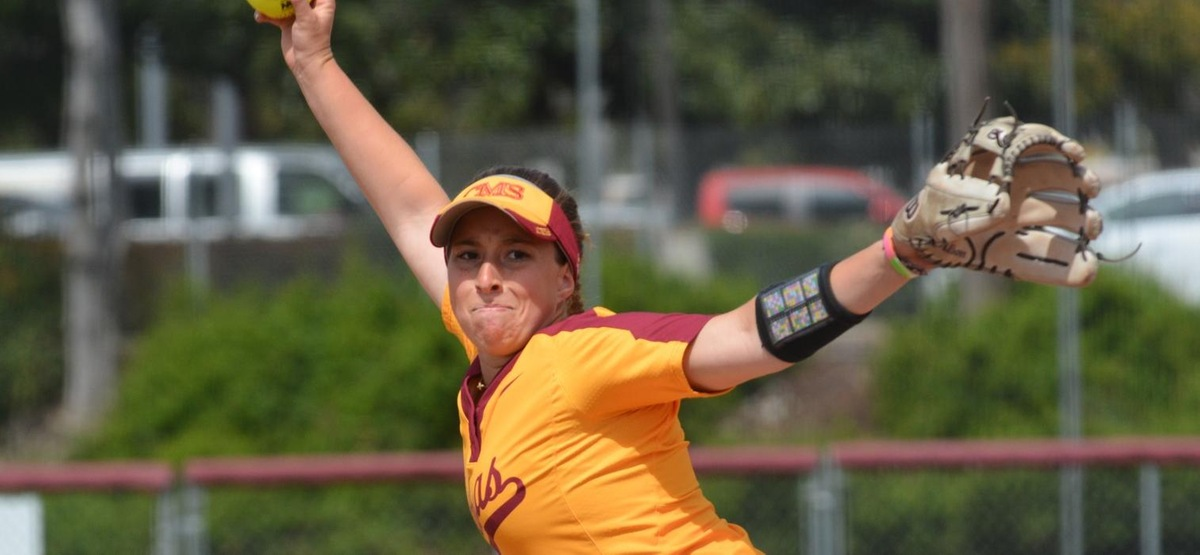 Lauren Richards allowed two hits in seven innings to get the win in the opener.