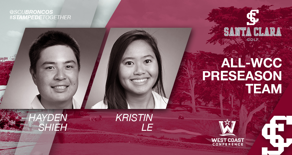 Two Golfers Voted Preseason All-WCC