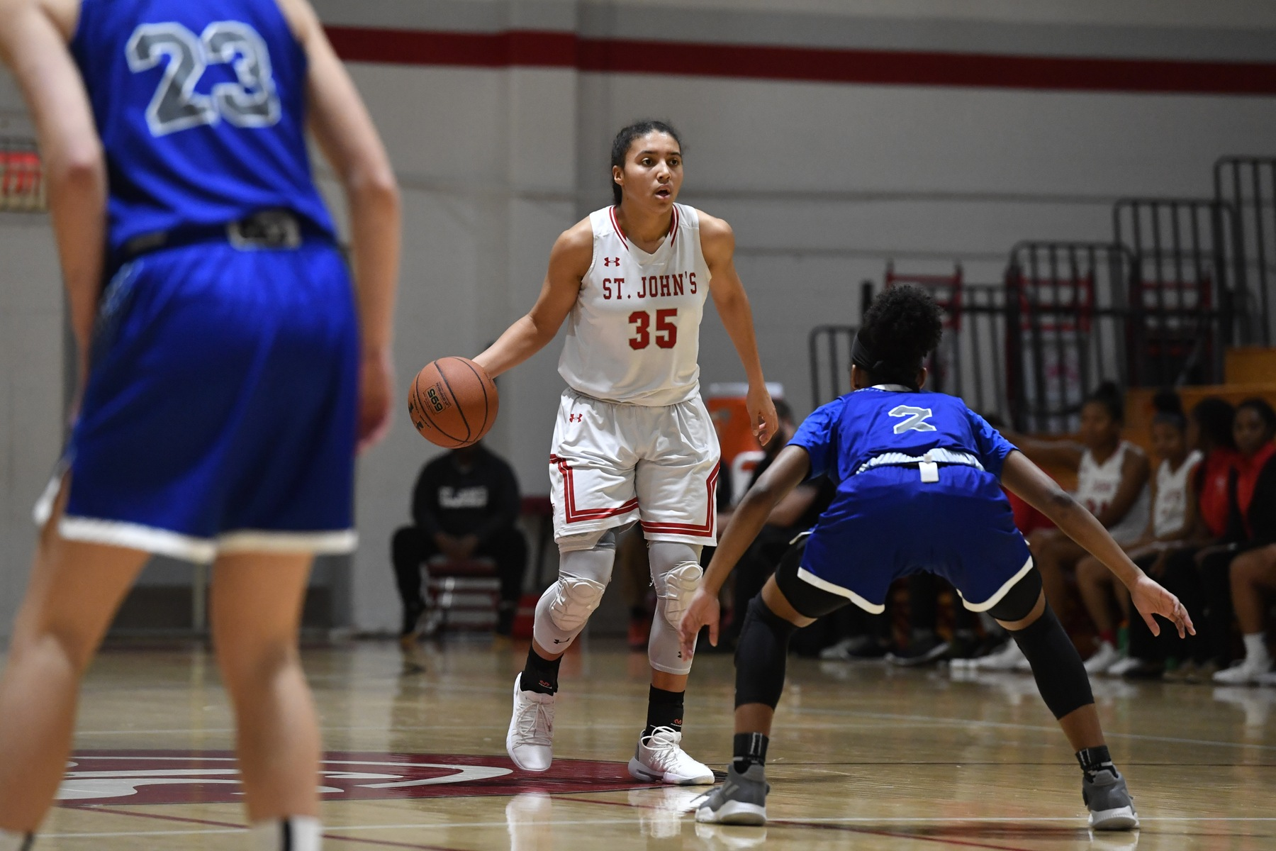 Sophomore Azzi Fudd (pictured in an earlier game) was kept in check, however still finished with 18 points in the win. (Photo from St. John's)