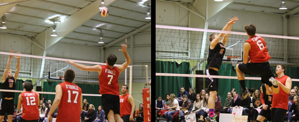 Men's Volleyball Defeated at Wells
