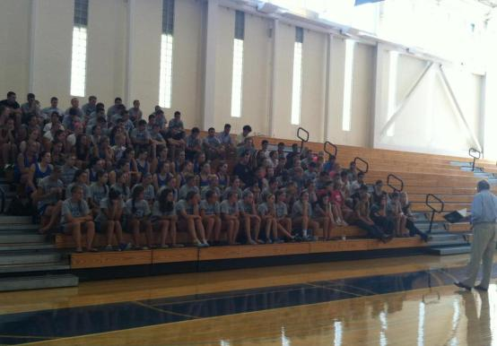 Fall Sports Participate in Team Blessing with Campus Ministry