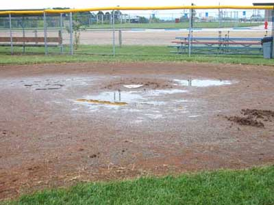 Rain washes away pair of games; CUA to play Friday