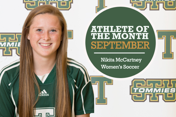 Athlete of the Month for September: Nikita McCartney, Women's Soccer