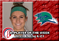 Bella Rino-Endicott, Women's Lacrosse: Defensive Player of the Week