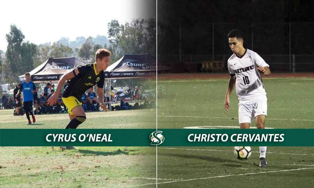 MEN'S SOCCER ADDS TWO MORE TO ROSTER - O'NEAL AND CERVANTES - BRINGING INCOMING CLASS TO 11