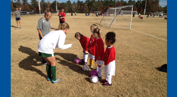 GC Women's Soccer Team Gives Back to the Community