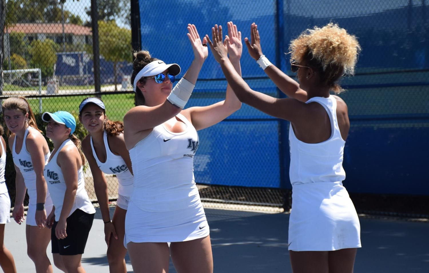 Women's tennis team beats Santa Barbara City to start playoffs