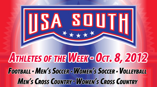 USA South Athletes of the Week - Oct. 8, 2012