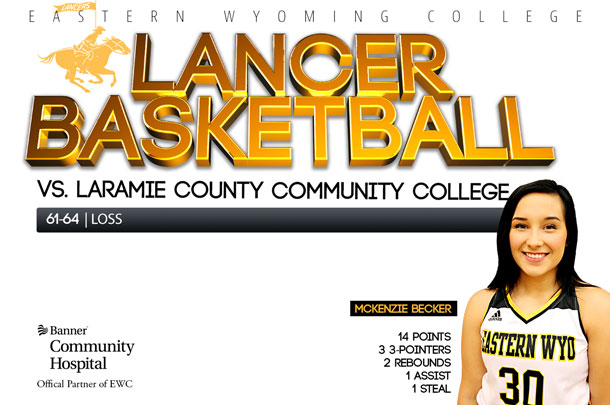 Eastern Wyoming College Lady Lancer Basketball team vs. Laramie County Community College Basketball team