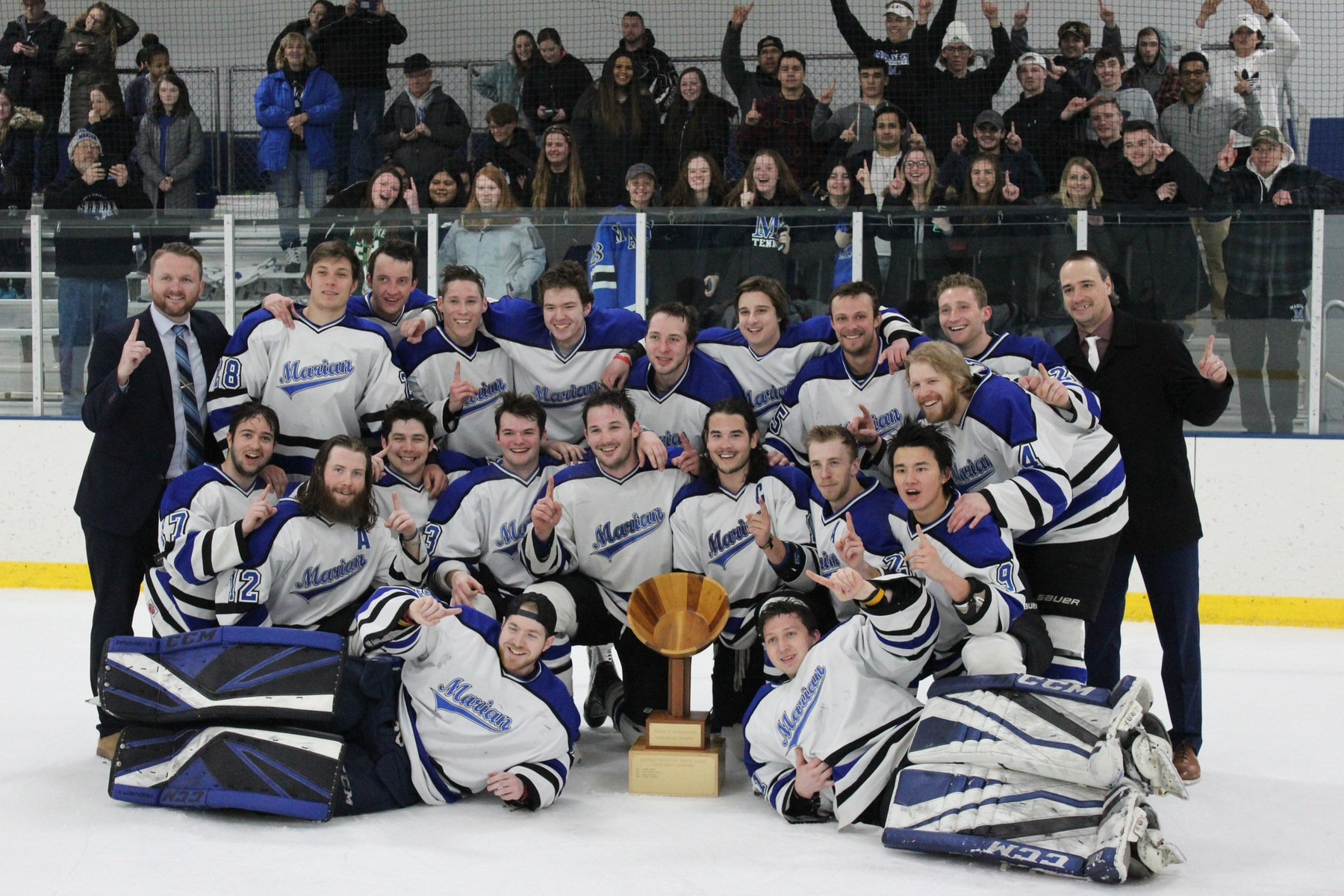 Marian gathers for a team photo with the Hap Cup
