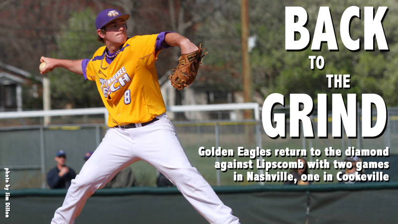 Golden Eagles to play split weekend with Lipscomb, two games in Nashville, one in Cookeville