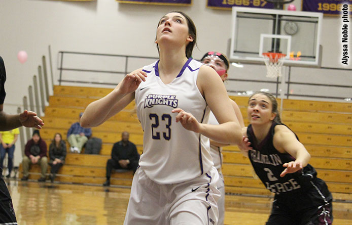 Purple Knights fall late to Stonehill, 59-58, during NE10 affair