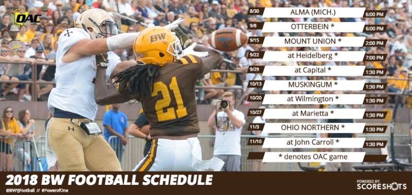 Football Announces 2018 Schedule