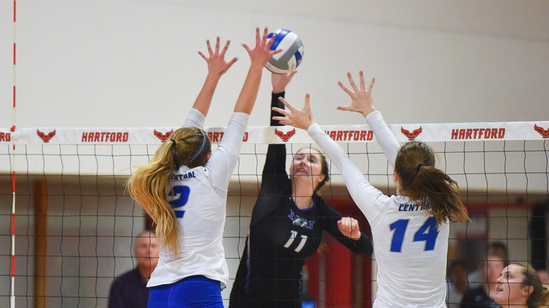 Volleyball Downed at Bryant on Friday