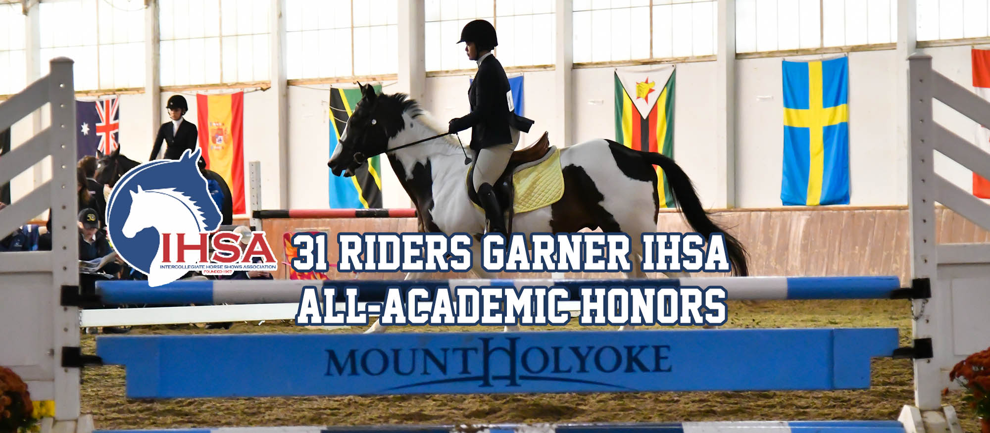 Graphic promoting the 31 riders who earned IHSA All-Academic honors for the 2017-18 season.
