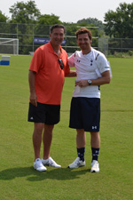 UMBC Head Coach Pete Caringi with Spurs' Manager André Villas-Boas