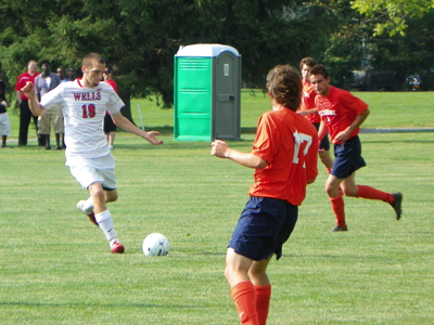 WELLS MEN'S SOCCER STOMPS GIANTS