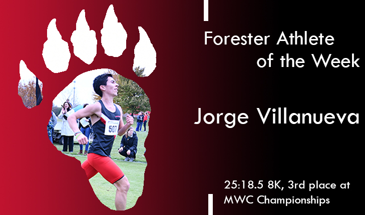 Jorge Villanueva Named Forester Athlete of the Week