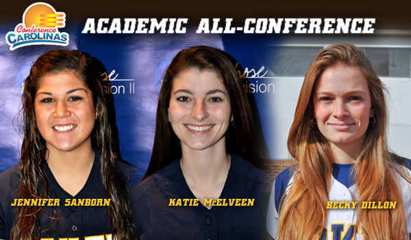 Coker Softball Trio Honored For Academics