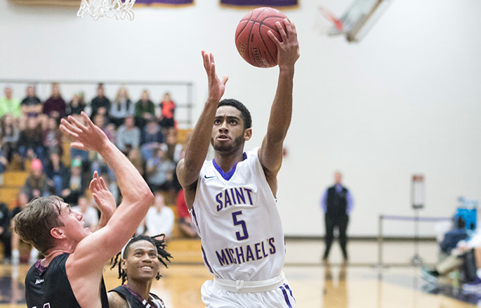 Comeback falls short as Saint Michael's loses to regionally-ranked Saint Anselm, 95-86
