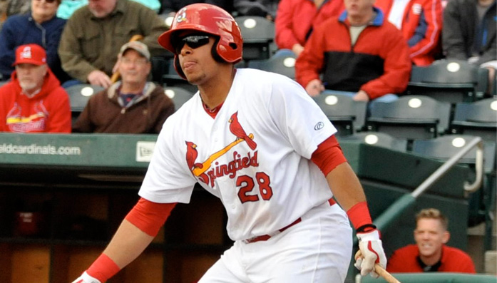 SCF Baseball alumn, Jonathan Rodriguez, named St. Louis Cardinals' Minor League Player of the Month